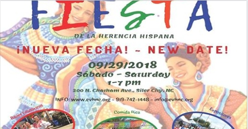 hispanic heritage fiesta, new date, Sat. Sept. 29, 2018