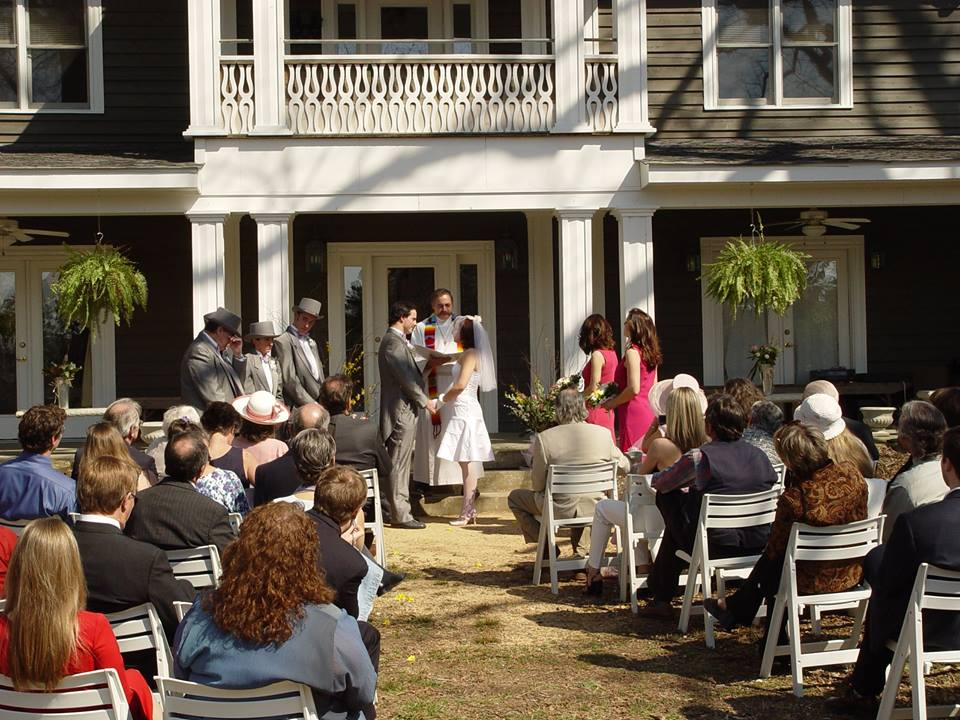 A wedding in front of The Inn